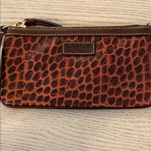Dooney and Bourke leather wristlet